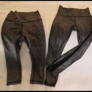 Lululemon size 6 Wunder Under crop leggings